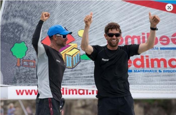 Transat AG2R : Thierry Chabagny et Erwan Tabarly les premiers à Saint-Barth