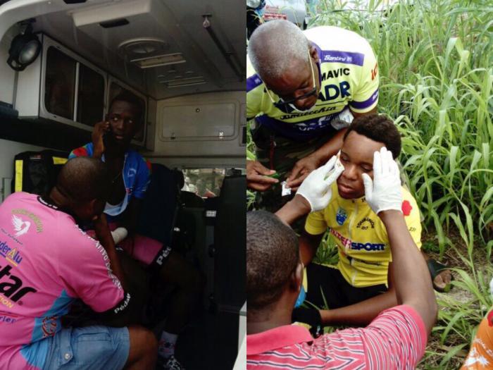 Un accident interrompt le tour junior, Edwin Nubul sacré