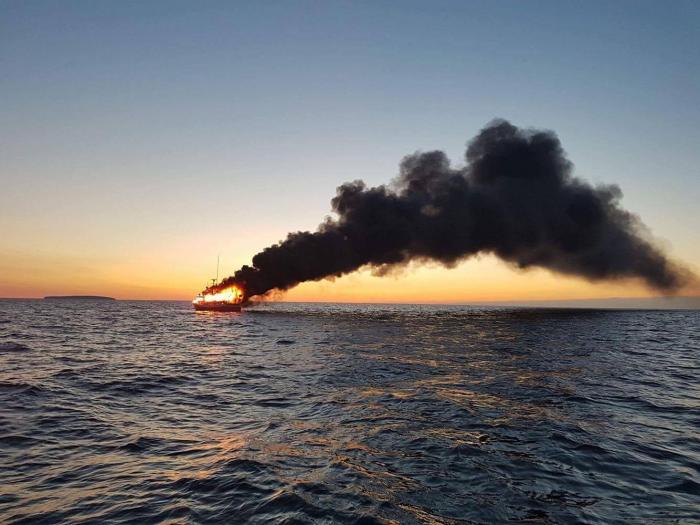 Un bateau de plaisance en feu : deux blessés dont un grave
