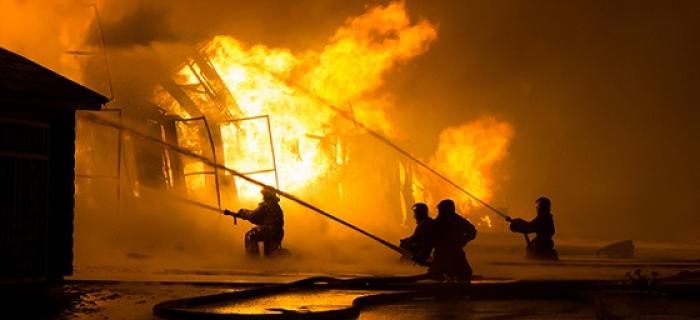 Un brulé dans un état grave après un incendie