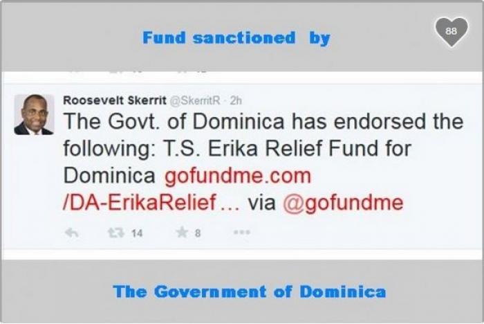 Un compte pour venir en aide aux habitants de la Dominique