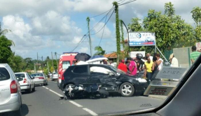 Un homme grièvement blessé dans un accident de la route au Lamentin