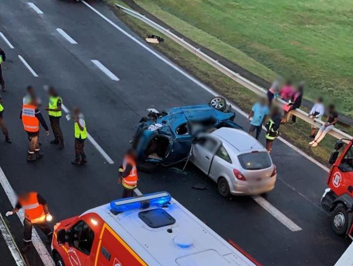 Un impressionnant accident sous le pont de Carrère fait 5 blessés dont 2 graves