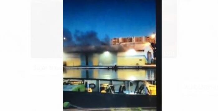 Un incendie s'est déclaré sur un quai de la Baie des Tourelles