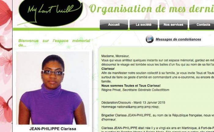 Un memorial en ligne pour Clarissa Jean-Philippe