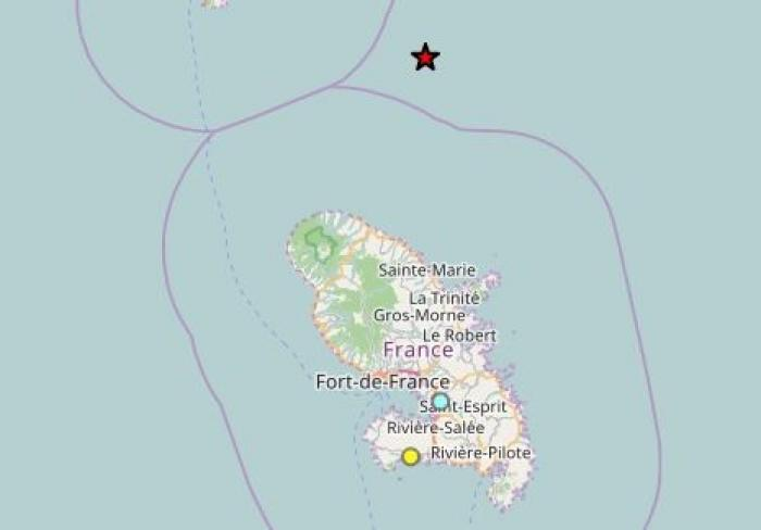 Un séisme d'une magnitude de 3,8 légèrement ressenti en Martinique