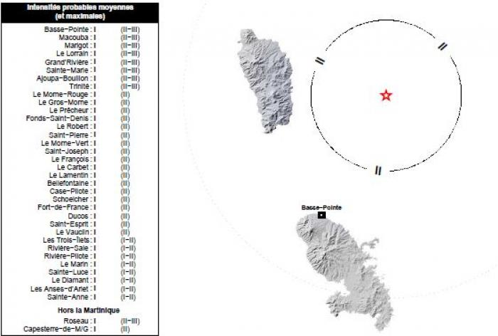 Un séisme de 3,9 de magnitude enregistré en Martinique