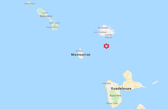Un séisme de magnitude 3,8 au nord de la Guadeloupe