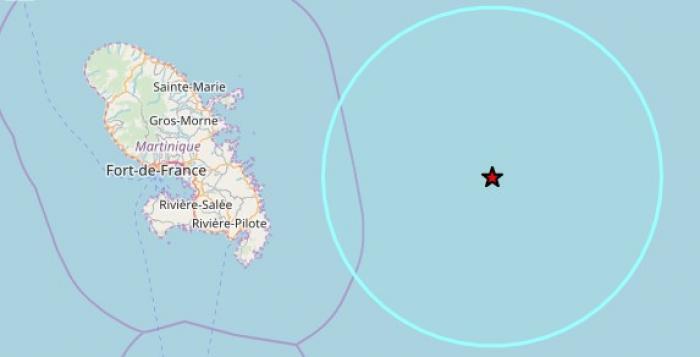 Un séisme de magnitude 4,1 au large du Vauclin
