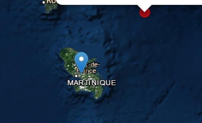 Un séisme de magnitude 4,7 ressenti en Martinique