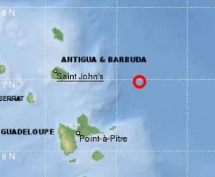 Un séisme de magnitude 4.4 au large d'Antigua