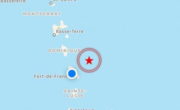 Un séisme de magnitude 6,3 sur l'échelle de Richter ressenti en Martinique