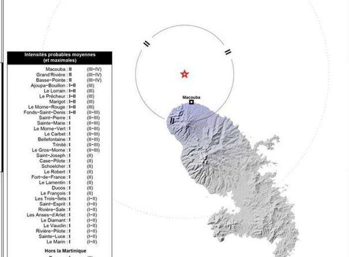 Un séisme mineur enregistré en Martinique, ce jeudi soir