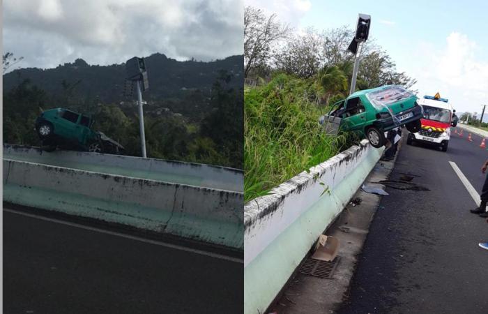 Un spectaculaire accident sur la RN1 mais personne sur les lieux