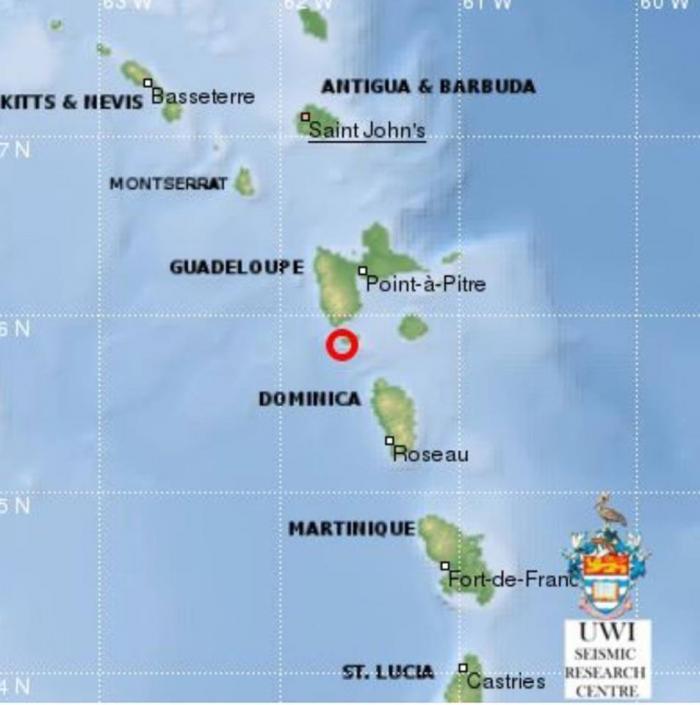 Un tremblement de terre d'une magnitude de 4,2 non loin des Saintes