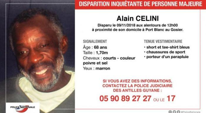 Une battue pour retrouver Alain Célini au Gosier