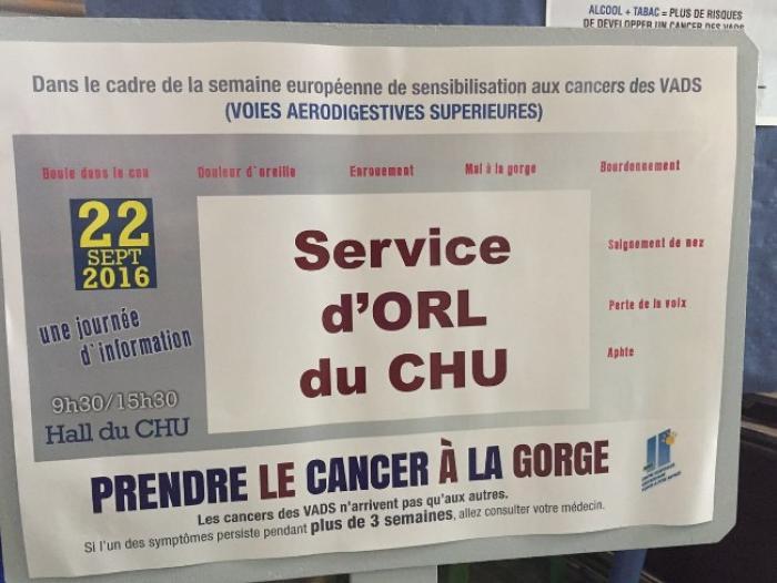 Une journée de prévention des cancers des voies aérodigestives supérieures au CHU