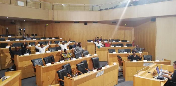 Une motion relative à la consultation pour l'adoption d'un drapeau et d'un hymne adoptée par les élus de l'assemblée de Martinique