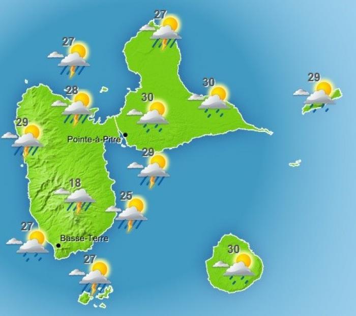 Une onde tropicale devrait concerner la Guadeloupe cet après-midi