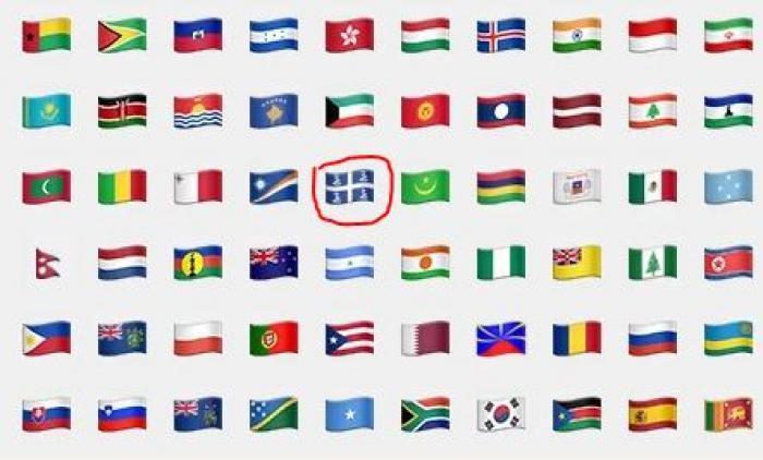 Une pétition pour faire disparaître le drapeau aux 4 serpents de la liste des émoticônes