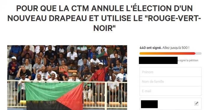 Une pétition pour le drapeau rouge-vert-noir et contre la consultation de la CTM