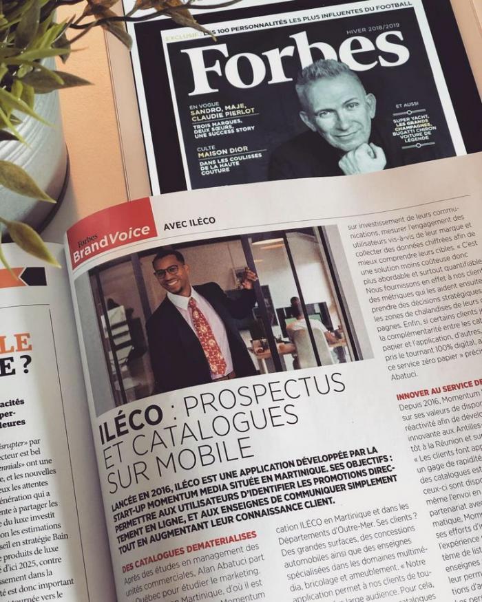 Une start-up martiniquaise dans Forbes France