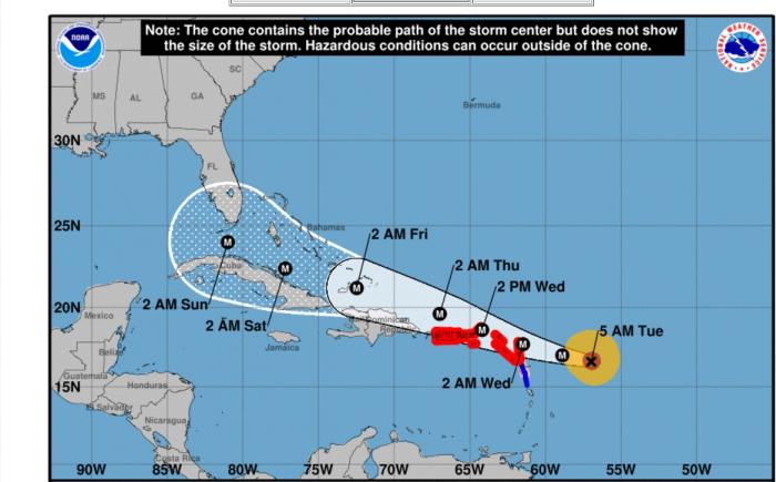 URGENT : IRMA est désormais un ouragan de catégorie 5
