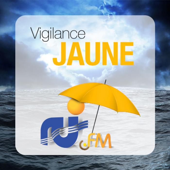 Vigilance jaune : le mauvais temps attendu à la mi-journée