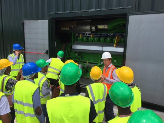 Visite de chantier au Syvade de la future unité de cogénération de biogaz