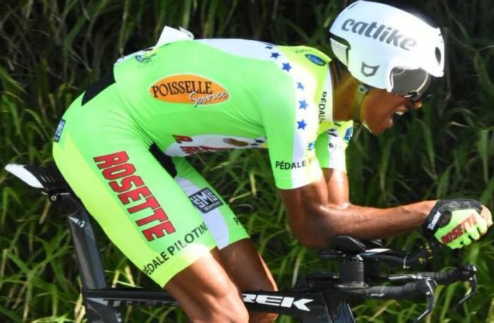 Willy Roseau est champion de Martinique de Contre-La-Montre